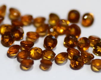 10 % OFF! SALE! Natural 4 MM Hessonite stone Round shape good quality Faceted gemstone,Loose Gemstone