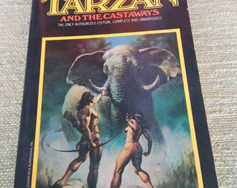 Tarzan and the Castaways 1970's Boris Vallejo Vintage Paperback Frazetta Heavy Metal