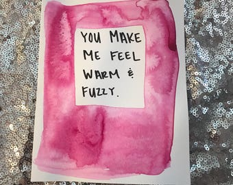 Warm and fuzzy card