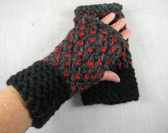 Wrist Warmers, Hand Knit Fingerless Gloves, Hand Knit Fingerless Mittens, Texting Gloves, Texting Mittens, Hand Warmers, Gauntlets
