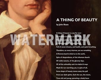 a thing of beauty by john keats And then there's john keats the critics didn't see this poem as a thing of beauty john keats: poems, biography and quotes related study materials.