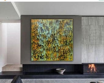 ON SALE Modern abstract original painting art  mixed media on canvas modern wall decor contemporary art free shipping anywhere in the world