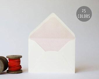 mini polka dot / pindot lined envelopes (25 color options)  // envelope liners lined envelopes modern wedding shower party invitation invite