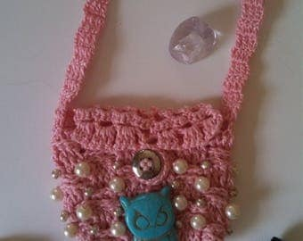 Pouch necklace; necklace; bag; bag necklace; pouch; pouch chain;