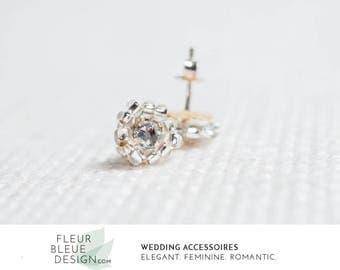 pearl stud earrings | bridal pearl earring | silver bridal earrings | bridesmaid earrings | pearl wedding earrings