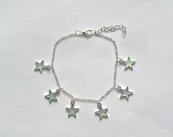 Shining Bracelet Star Silver Colors