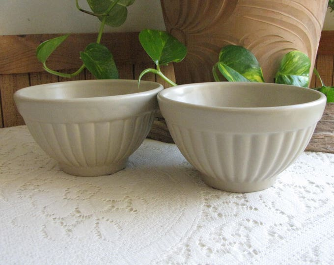 Haeger Gray Bowls 296 Haeger Potteries Cereal and Dinnerware Bowls Set of Two (2) Vintage Dinnerware and Replacements