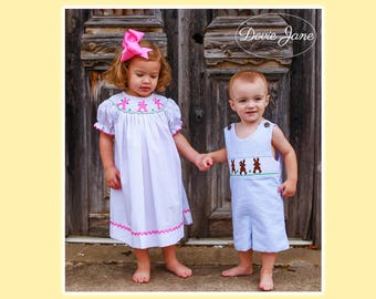 Smocked Bunny, Easter Outfits, Matching Easter Outfits, Brother Sister, Matching Outfits Boy Girl, Matching Outfits, Coordinating Sibling