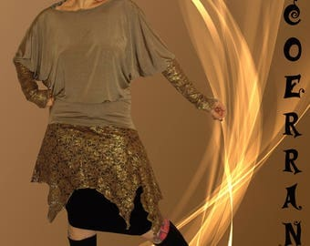 Asymmetrical tunic 'Golden women'