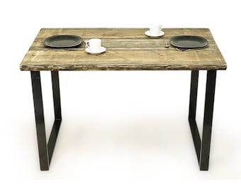 Live Edge Table Reclaimed Wood Planks Dining Sofa