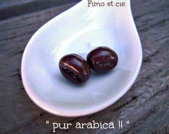 """pair of """"pure arabica"""" Stud Earrings"""