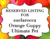 RESERVED LISTING for suelarocca Orange Guppy Fish Ultimate Pet, Fish in a bag, vegan.
