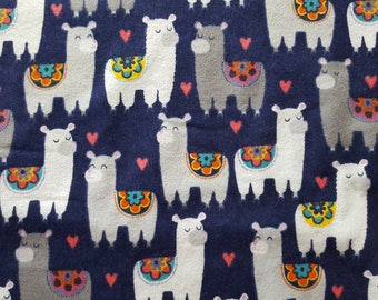 Patterned Llamas Flannel Fabric by the yard
