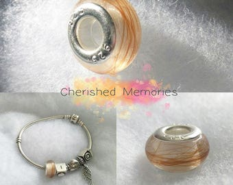 Pandora style Memorial hair resin beads