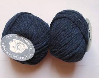 5 big skeins Pure wool N 8 Navy 111