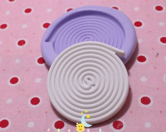 40 mm licorice candy silicone mold