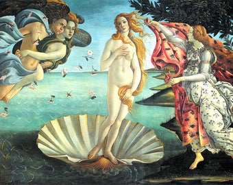 Placemat Botticelli 'The birth of Venus'
