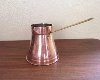 Copper Butter/Rum Warmer Pan