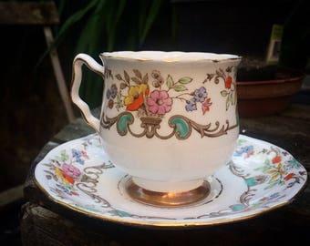 Vintage Royal Stafford Tea Cup and Saucer