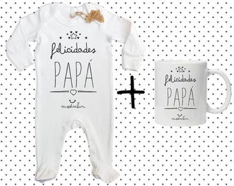 """Pack """"Congratulations Papa"""" gift for Dad, personalized gift, gift, gift box, mug, pajama, dad birthday gift-funny gift, gift"""