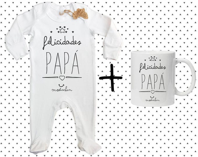 "Featured listing image: Pack ""Congratulations Papa"" gift for Dad, personalized gift, gift, gift box, mug, pajama, dad birthday gift-funny gift, gift"