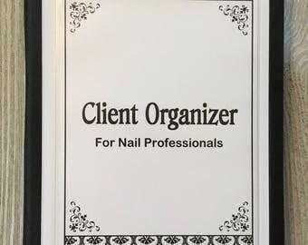Nail Technician/Manicurist Client Organizer  - Damask Design