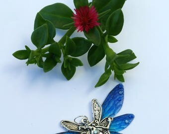 Beautiful Fairy Wings and Charm Pendant (with necklace)