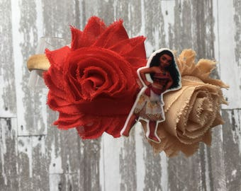 FREE  SHIPPING Moana Headband- Moana Hair Bow - Moana Bow - Moana Birthday Party - Moana Party