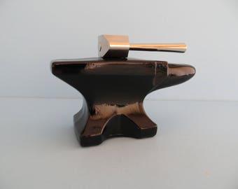 Vintage Avon bottle Blacksmith's Anvil 1972-73