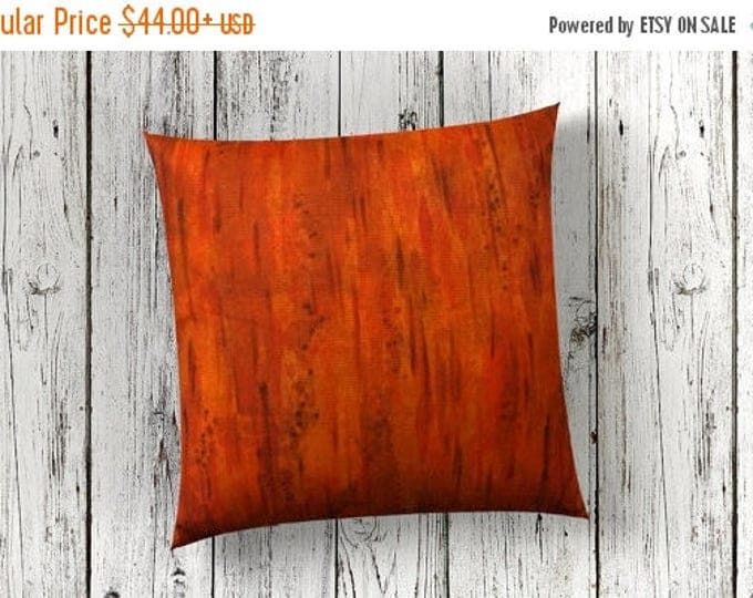 SALE Colorful Pillow Cover 18x18-Watercolor Silk Pillow Cover-Orange Throw Pillow-Gift