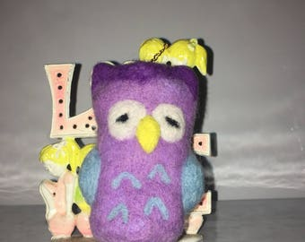 Decorative Needle Felted Owl