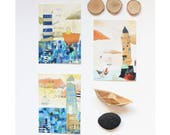 """Lot de 3 cartes postales """"Phare"""", 10,5x14,7cm"""