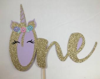 Unicorn Cake Topper | First Birthday | Smash Cake | Unicorn Theme