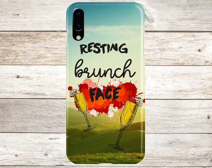 Featured listing image: Resting Brunch Face x Mimosas Phone Case, iPhone X, iPhone 8 Plus, Tough iPhone Case, Galaxy s8, Samsung Galaxy s8 Plus, Food Quotes