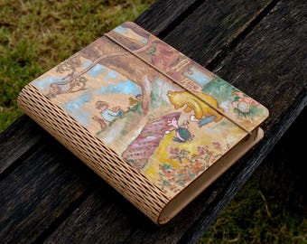 Winnie the Pooh inspired hand painted pyrography art box