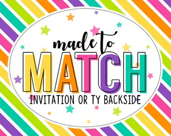 M2M Backside to Invitation and/or Thank You card - Add on