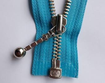 AQUA blue m5 vintage zipper metal teeth size 5 divisible (547 YKK) zipper молния cerniera cipzár fermeture éclair cremallera רוכסן
