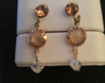 Vintage Screw Back Dangle Earrings