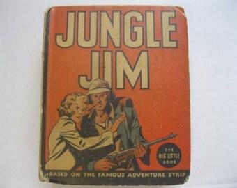 1936 Jungle Jim BLB #1138 Antique Big Little Book Hard Cover Comic Strip Whitman