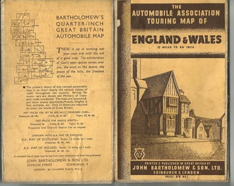 automobile touring map cover england & wales download
