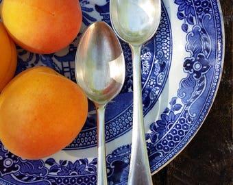 antique spoon teaspoons silver tea spoon English DIXON hallmarked cake dessert pastry spoon vintage tableware silverware flatware England
