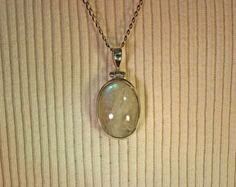 Rainbow Moonstone Pendant # 958