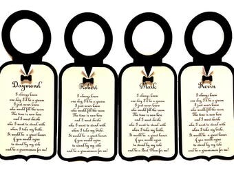 Will you be my groomsman label, Groomsman gift, best man, whiskey liquor wine bottle tag label, Groomsman invitation, Groomsmen Invites