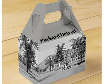 Detroit Packard Plant in full panoramic Gable Favor Box (Qty 10)