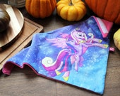 Cute magical unicorns snowboard or motor bandana scarf! Inspired by My Little Pony Princess Cadence and Twilight Sparkle, galaxy print