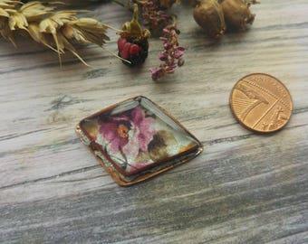 Medium Doof. Copper and Resin connector. Art beads. Jewellery Making. Twinkiedinky. Roses doof.