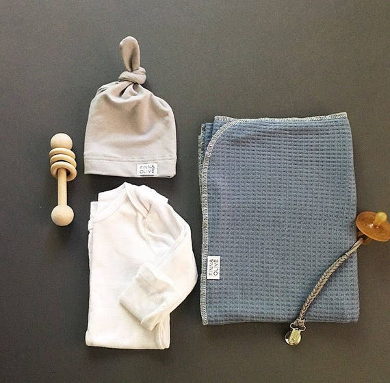 Baby Swaddle- the | Lake | Steel Blue Swaddle Blanket
