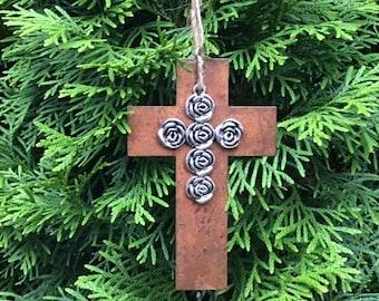 Christmas, Christmas Ornament, Cross Ornament, Cross Decor, Country Chic, Farmhouse Chic, Farmhouse Christmas, Farmhouse Decor, Cross