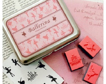 Box of little ballerinas dancers - dancer stamp stamps