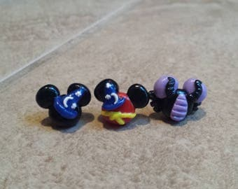 Mickey Mouse Sorcerer Inspired Earrings-Mickey Mouse Fantasmic Inspired Earrings